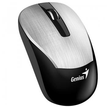 Mouse Sem Fio Genius Eco-8015 1600 Dpi Prata 31030007401 Bateria Recarregável