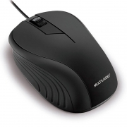 Mouse Usb Emborrachado Preto Multilaser Mo222