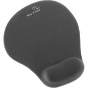 Mousepad Com Apoio De Pulso Ergonômico Em Gel Cor Preto Multilaser ac021