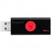 Pen Drive 16gb Kingston  Datatraveler 106 16gb 3.0 Preto -  Dt106/16gb