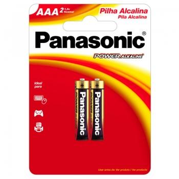 Pilha Alcalina Palito Aaa Panasonic Lr03-2bt480 (Cartela C/2 Pilhas) - 1001091