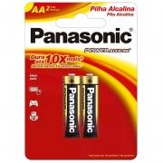 Pilha Alcalina Pequena Aa Panasonic Lr6-2bt (Cartela C/2 Pilhas) - 1001089
