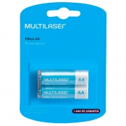 Pilha Recarregável AA 2500mah Multilaser (Blister C/ 2 Pilhas) - CB053