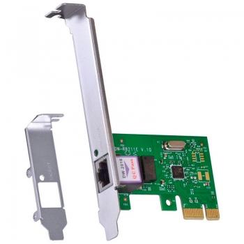 Placa De Rede Gigabit Pci-E 10/100/1000 Vinik Prv1000e Low Profile