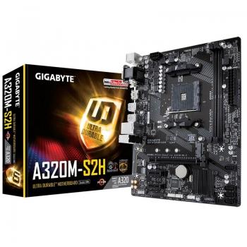 Placa Mae AMD Gigabyte GA-A320M-S2H DDR4 Socket AM4