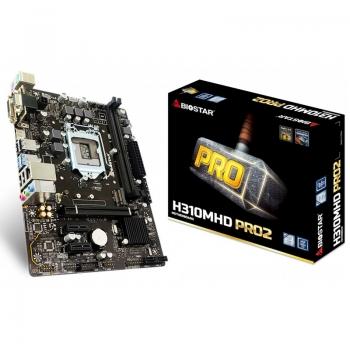Placa Mae Biostar H310 Mhd Pro2 Intel Ddr4 Hdmi Vga Socket 1151 (8a E 9a Ger Intel)