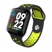 Smart Watch International Bluetooth F8 Fitness Heart Rate Preto / Verde