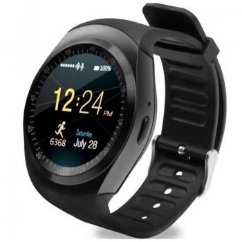 Smart Watch International Bluetooth Y1 Fitness Heart Rate Preto