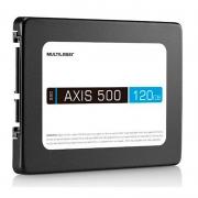 Ssd 120gb Multilaser Ss100 Axis500 540mb/s leitura 500mb/s Gravação
