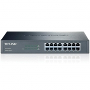 Switch 16 Portas 10/100/1000 Mbps Tp-Link Tl-Sg1016d - Montavel Em Rack
