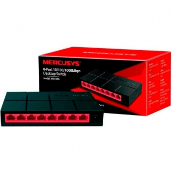 Switch 8 Portas Mercusys 10/100/1000Mbps - MS108G