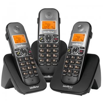 Telefone Sem Fio Intelbras TS5123 + 2 Ramais  - 4125123
