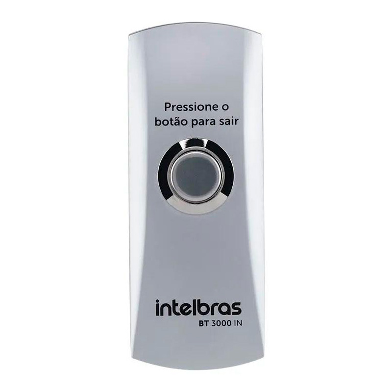 Acionador De Saída Para Abertura De Portas Inox  Bt3000 Intelbras - 4675003