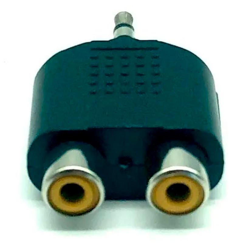 Adaptador 2 Rca Fêmea Para 1 P3 Macho P/Microfone E Fone Headset