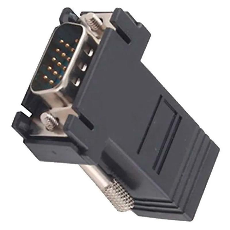 Adaptador Conversor Extensor Vga Via Rede Rj45 Cat5 Cat6