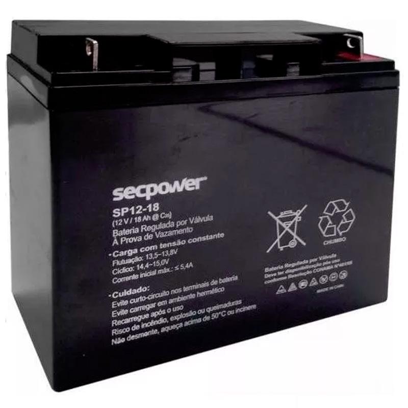 Bateria Para Nobreak Secpower 12v 18ah (Sp-1218)