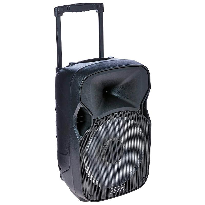 Caixa De Som Amplificada Multilaser Sp219 150w Karaoke Usb Sd Card Radio