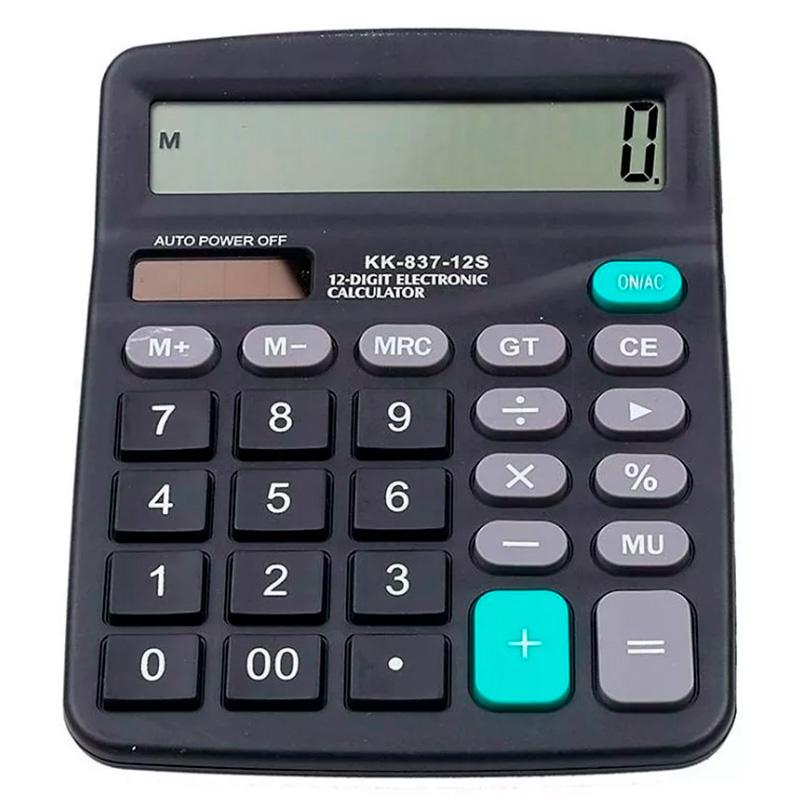 Calculadora De Mesa Karuida 12 Digitos (Solar/Bateria) Kk-838b - Preta