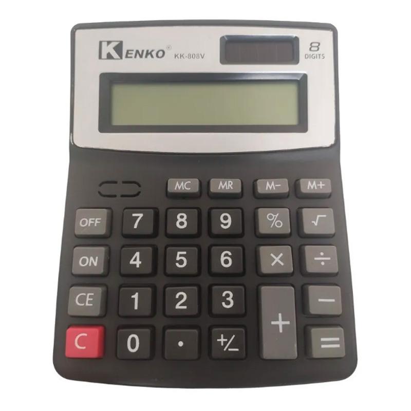 Calculadora De Mesa Kenko 8 Dígitos Kk-808v - Preta