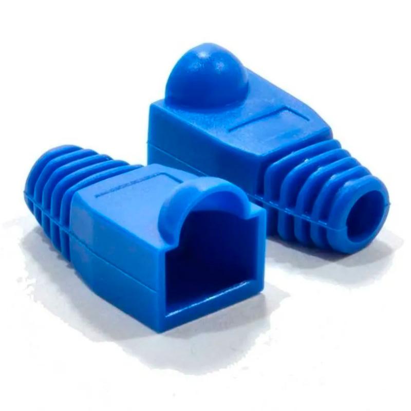 Capa Protetora Borracha Conector Rj45 Cat5 Cat6 Azul