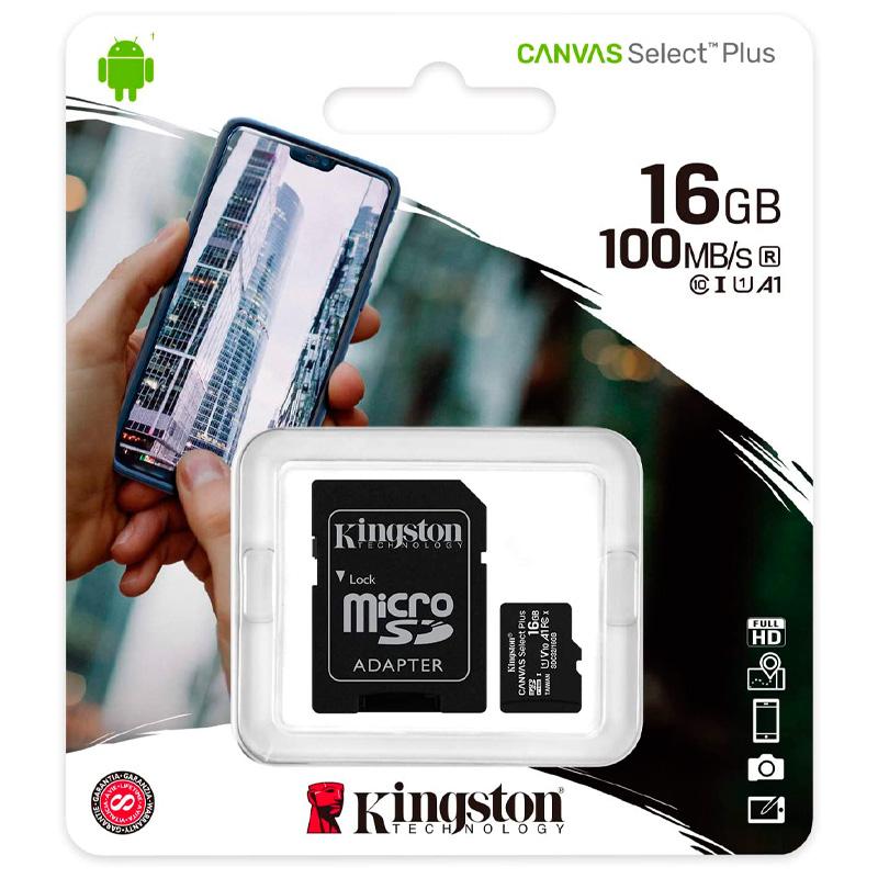 Cartão De Memória 16gb Micro Sd Card Kingston Cl10 - SDCS2/16GB