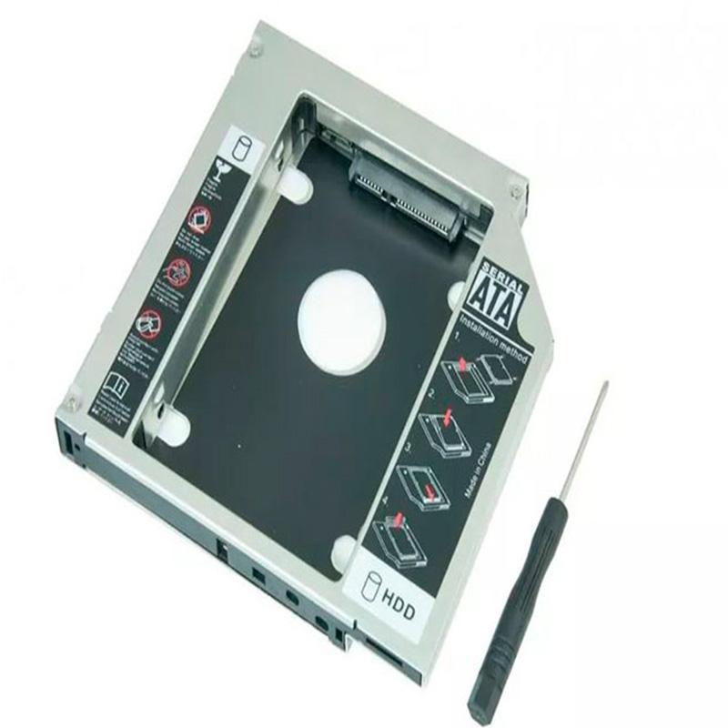 Case caddy gaveta para 2o. Hd ou ssd no dvdrw do notebook 9.5mm