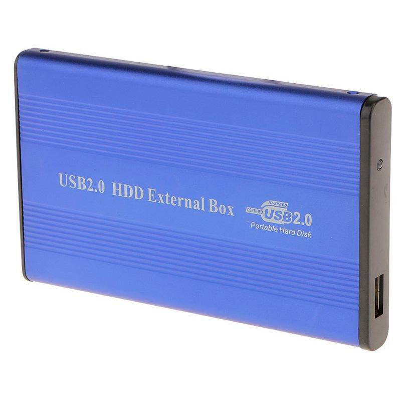 Case Para Hd 2.5 Pols Aluminio Usb 2.0 Azul