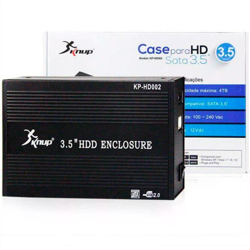 Case Para Hd 3.5 Pols Sata Usb 2.0 Knup Kp-Hd002