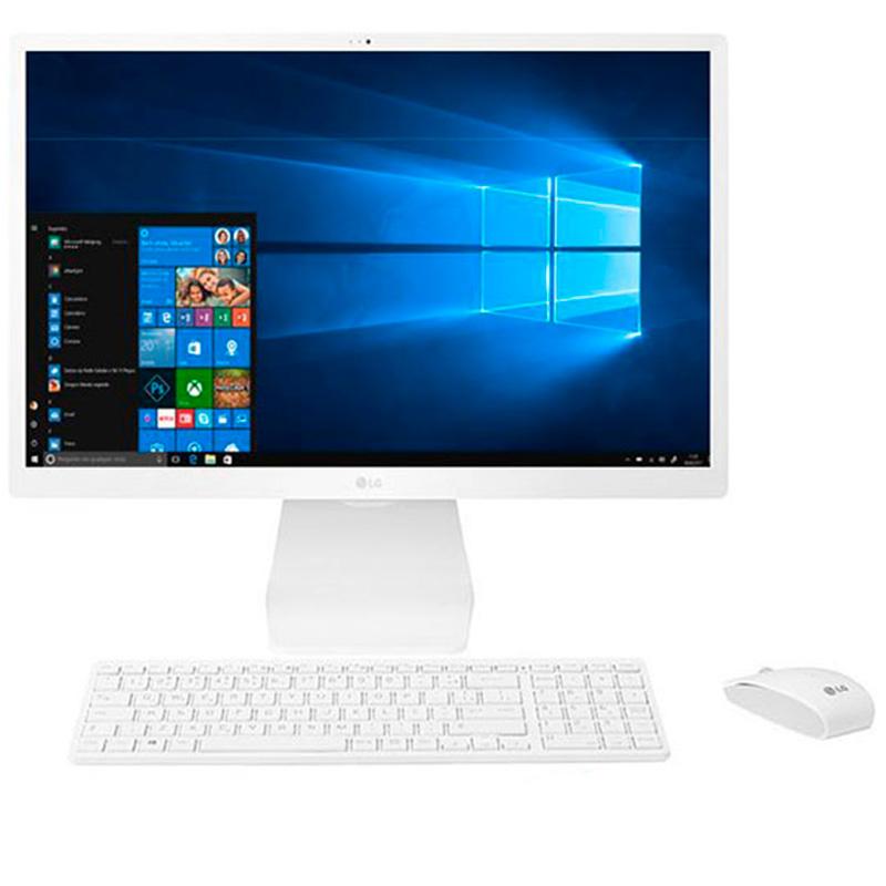 Computador All In One Lg 22v280-Lbj31p1 Intel Quad Core N4100 4gb 500gb Tecl E Mouse Win10 21.5 Pols Branco