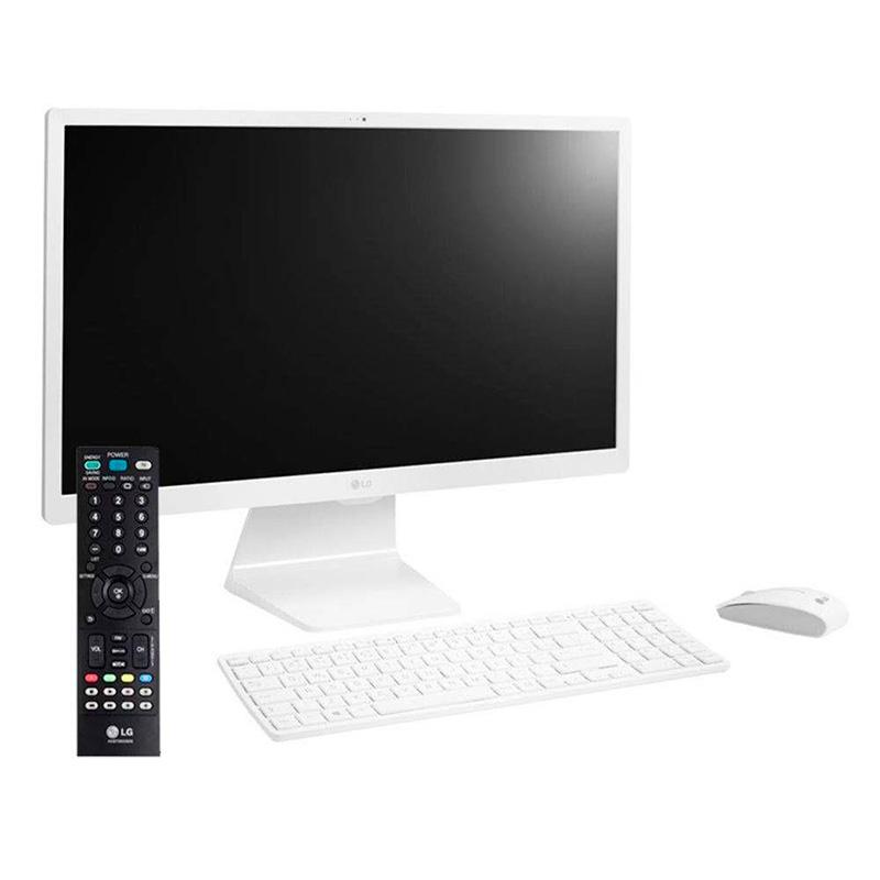 Computador All In One Lg 24v570-C.Bj21p1 Intel I3-7100u 4gb 1tb Tv Webcam Tecl E Mouse Sem Fio Win10 23.8 Pols
