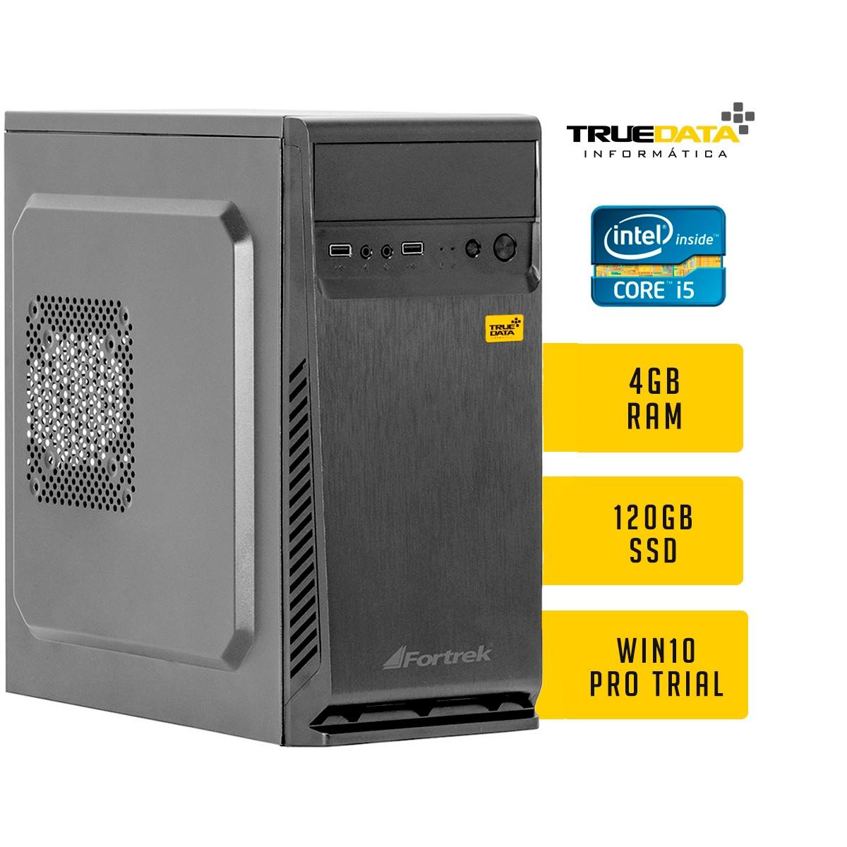 Computador Desktop True Data Intel Core I5-2500 3.7ghz 4gb Ssd 120gb  W10 Trial