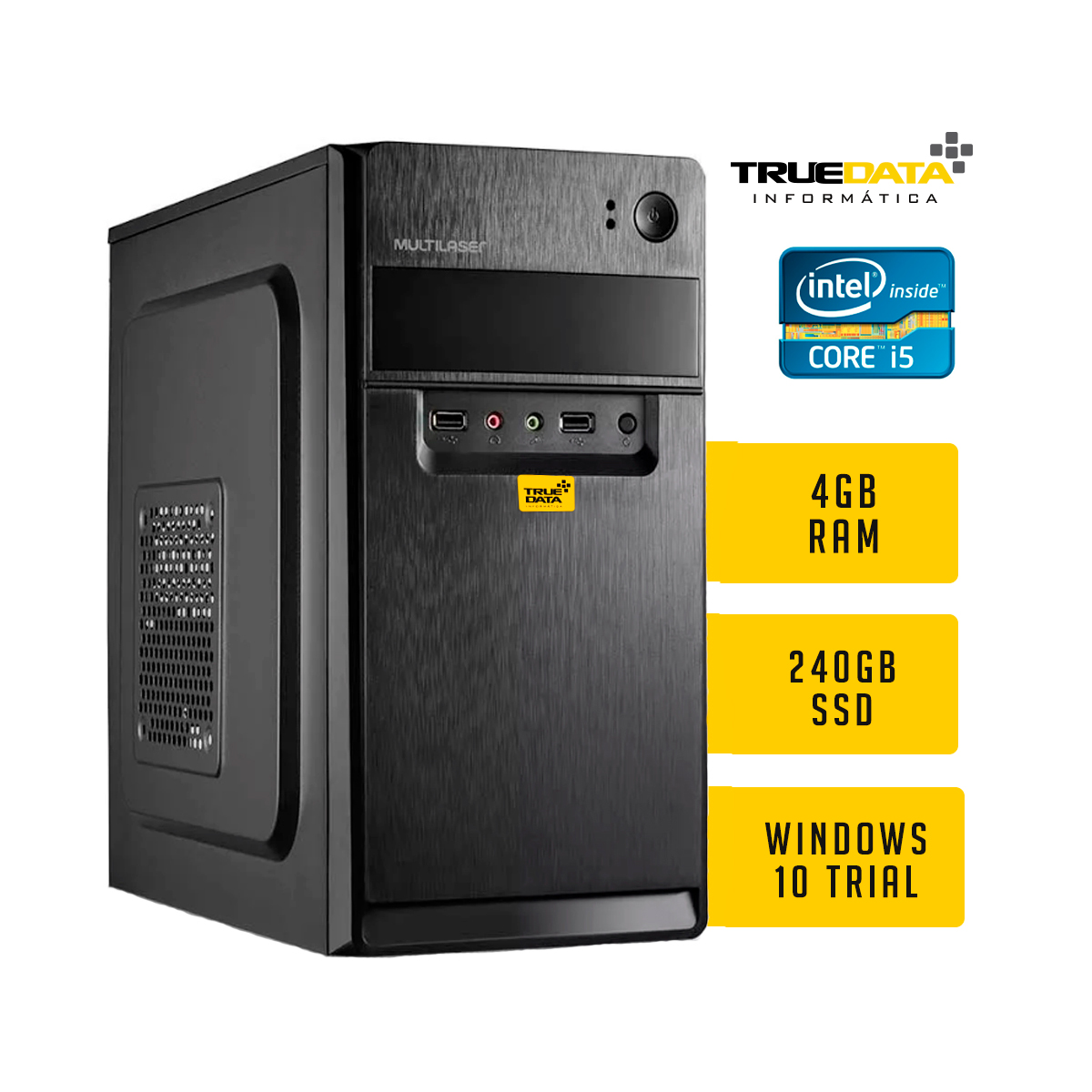Computador Desktop True Data Intel Core I5-3470 3.2ghz 4gb Ssd 240gb Win10 Trial