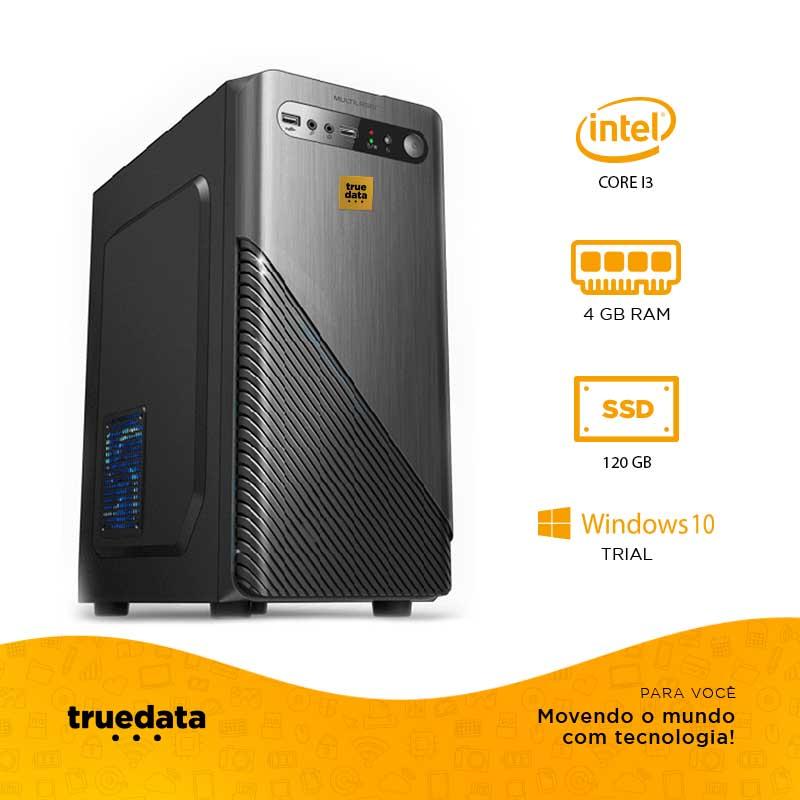 Computador Desktop Truedata Core I3-2120 3.3ghz 4gb Ssd 120gb Win10 Trial