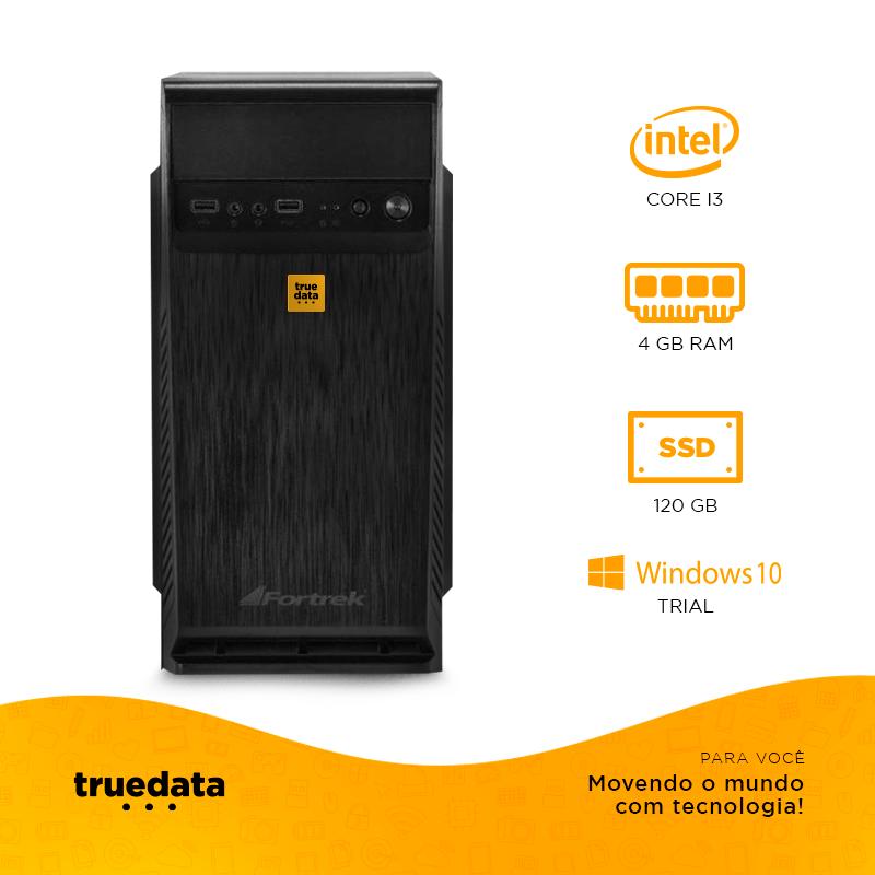 Computador Desktop Truedata Intel Core I5-2400 2.5ghz 4gb Ssd 120gb  W10 Trial