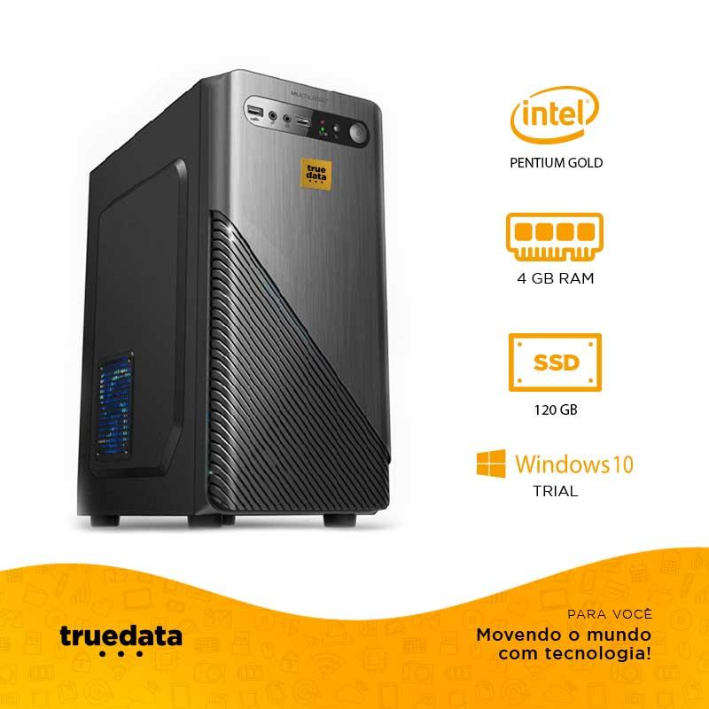 Computador Desktop Truedata Intel Pentium 3.7ghz 4gb Ssd 120gb Win10 Trial