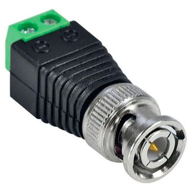 Conector Bnc P4 Macho Com Borne