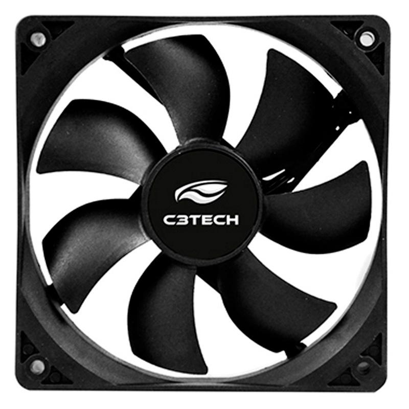 Cooler Fan para Gabinete C3Tech F7100 120x120x25mm Black