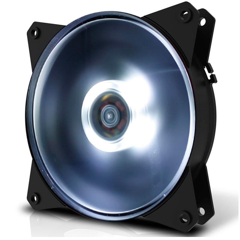 Cooler Fan para Gabinete Cooler Master Masterfan MF120L Led Branco - R4-C1DS-12FW-R1