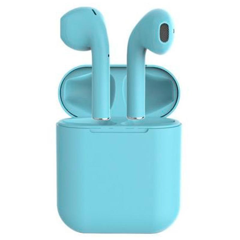 Fone De Ouvido Bluetooth Tipo Iphone I17 Macaron Azul