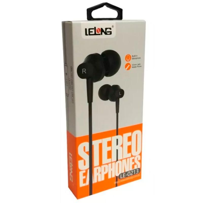 Fone De Ouvido C/Microfone Lelong Le-0213 Preto