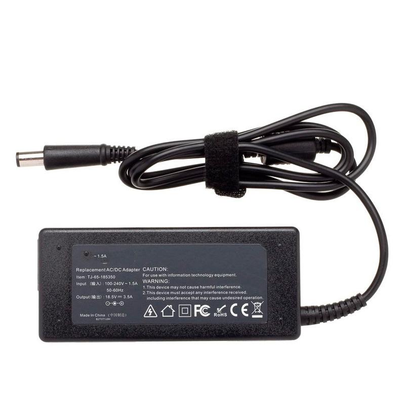 Fonte Para Notebook Hp 65w 18.5v 3.5a Conector Ponta Preta 1.7mm