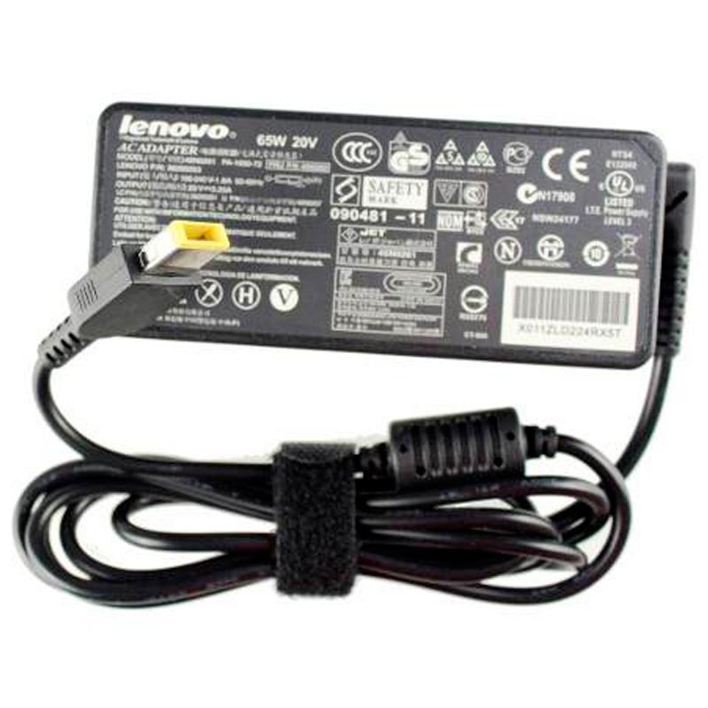 Fonte Para Notebook Lenovo 20v 3.25a Plug Retangular