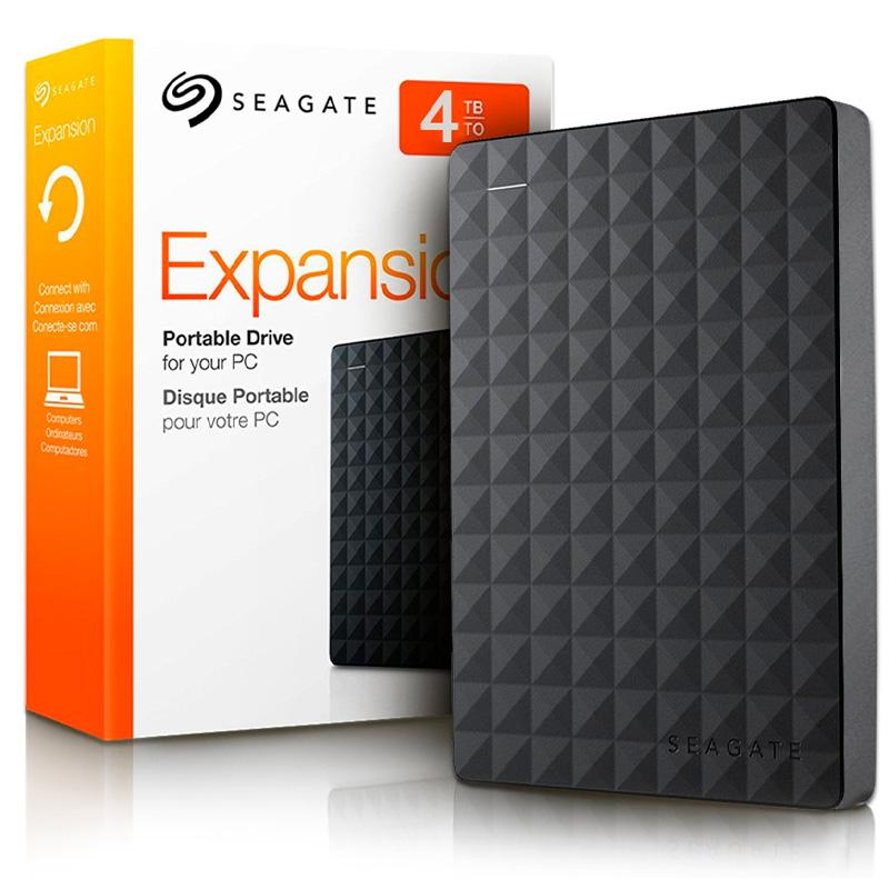 HD Externo Seagate 4TB Expansion USB 3.0 Preto - STEA4000400