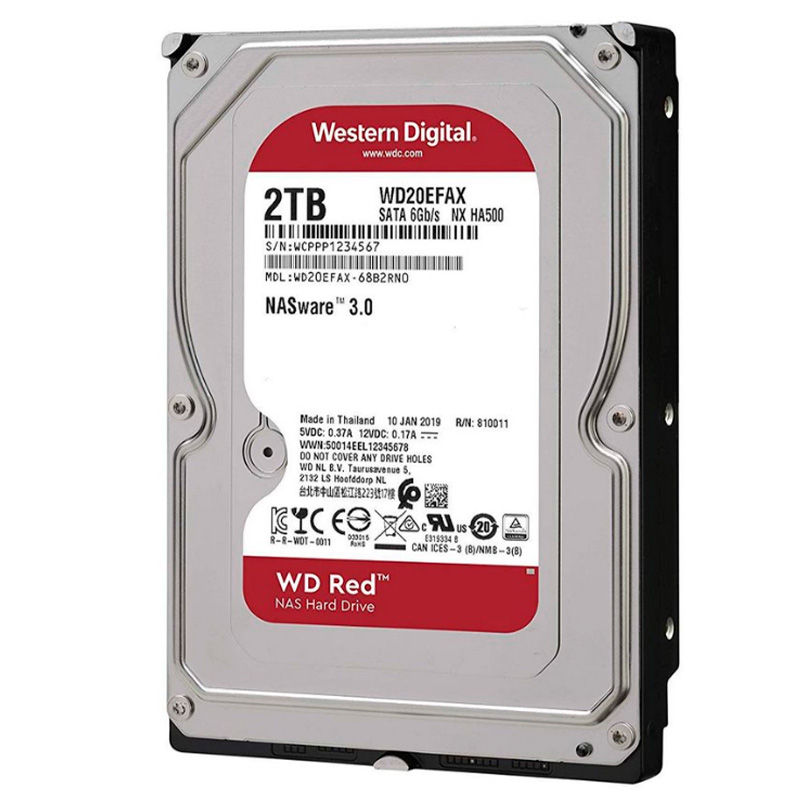 Hd Wd Red Nas 2tb, 3.5´ Sata - Wd20efrx