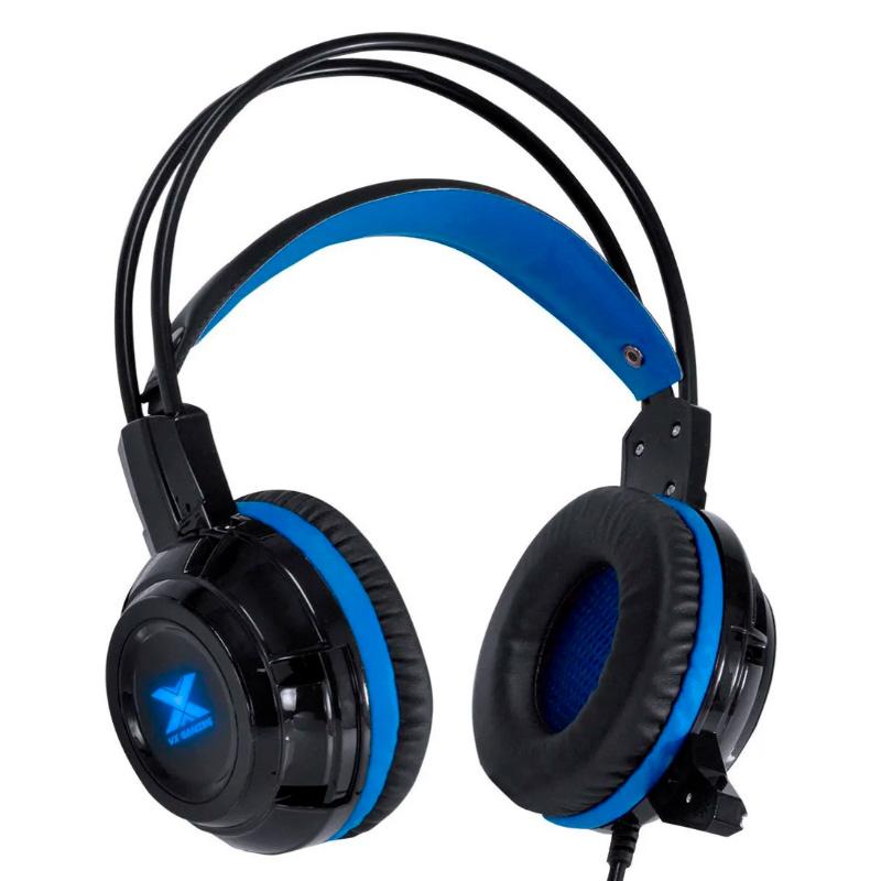 Headset Gamer VX Gaming Taranis P2 Preto/Azul - 29870