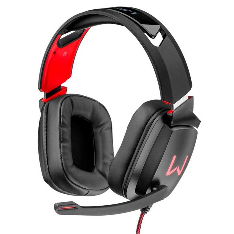 Headset Gamer Warrior Kaden Usb Vermelho Led - PH301
