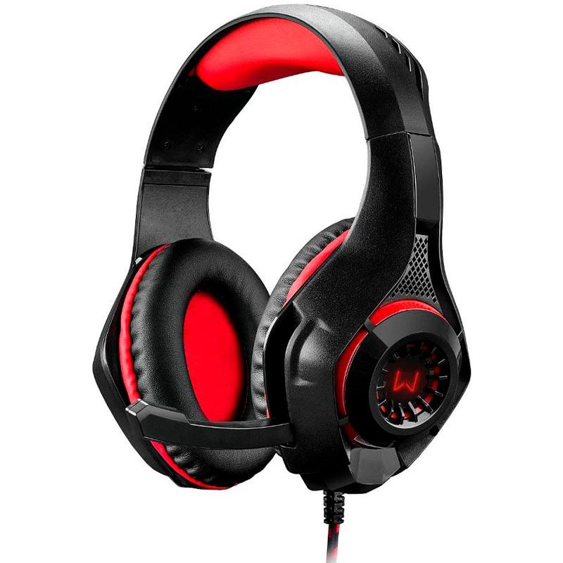 Headset Gamer Warrior Rama P3+Usb+P2 Vermelho Led Ph219