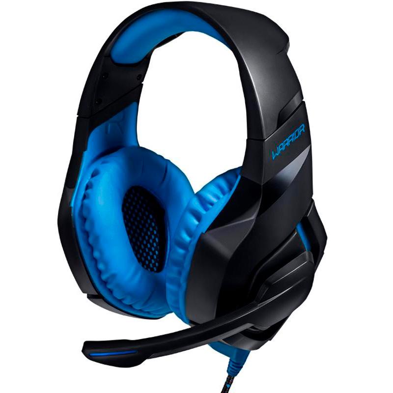Headset Gamer Warrior Straton Usb Azul Led Ph244