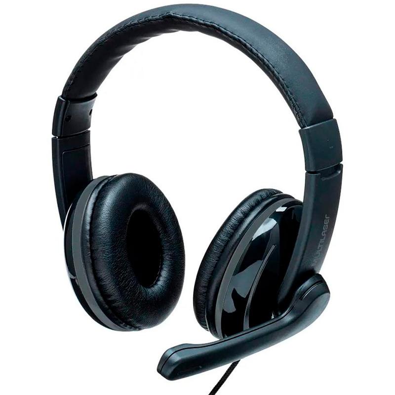 Headset Multilaser Pro Preto C/ Adaptador P3 - PH316