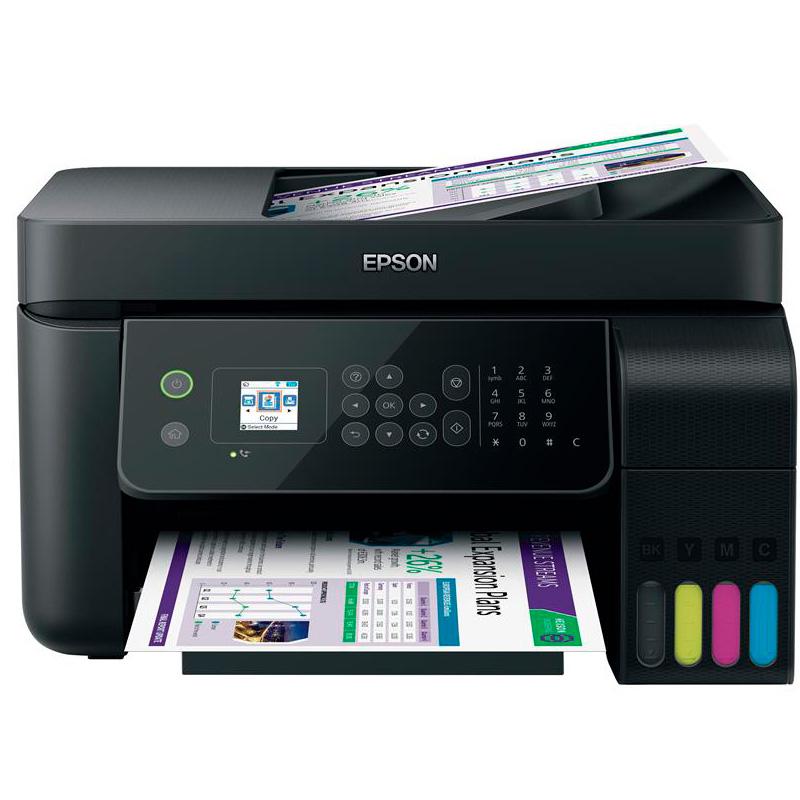 Impressora Multifuncional Epson L5190 Ecotank Jato de Tinta ADF Wireless  - C11CG85302